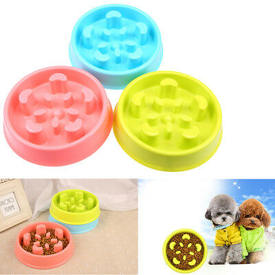 Pet Slow Anti-choke Bowl Dog Cat Feeder Anti Slip Dish Feeding Eating Food Tool