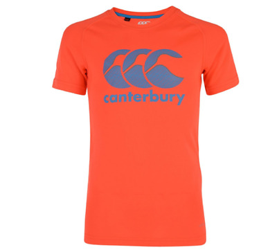 New Canterbury Men's Vapodri Poly Rugby T-Shirt Red Spark Size XL E546641