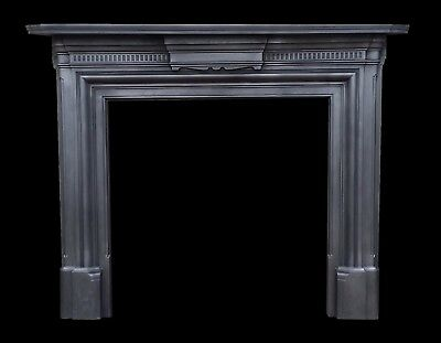 Medium size antique Victorian cast iron fire surround - Great with a  stove