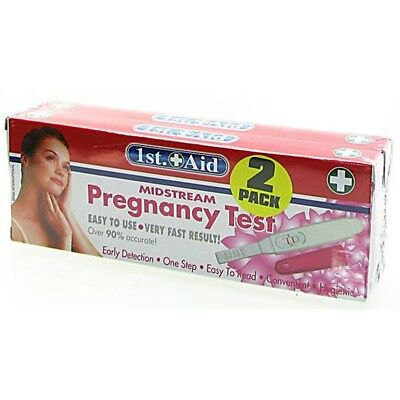 Pack Of 2 Pregnancy Tests - Test Accurate Easy Midstream Fast Home Results