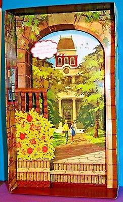 Vintage Barbie Reproduction #1616 Campus Sweetheart CARDBOARD DIORAMA Background
