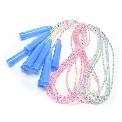 Sports Training Plastic Handle Soft Plastic Skipping Jumping Rope for Kids FT