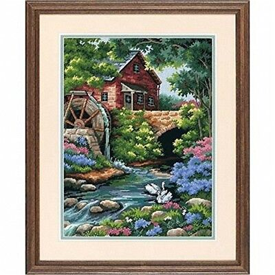 Dimensions Needlepoint Kit - Old Mill Cottage - D02484 Stitched