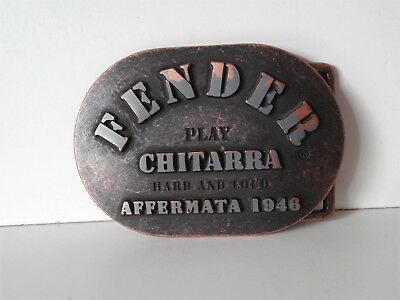 Fender Play Chitarra Belt Buckle