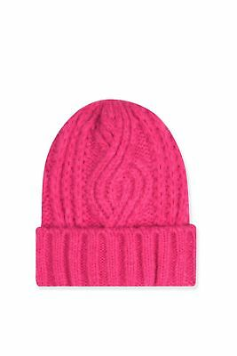 Topshop Cable Knit Beanie Hat - Pink - RRP £12 - New