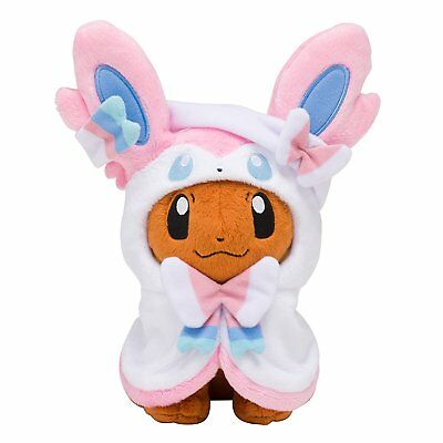 Pokemon Center Original Limited Plush Doll Eevee Poncho Sylveon Nymphia JAPAN