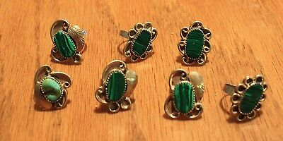 Malachite and Turquoise rings 7 (101)