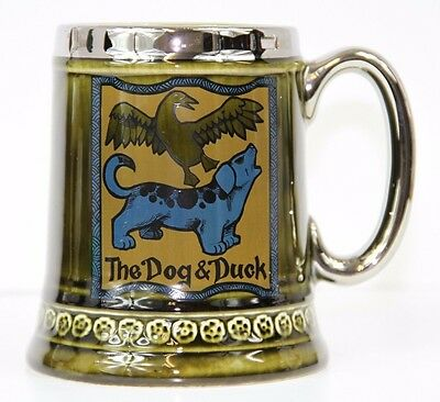 The Dog & Duck Ye Old Inn Mug Lord Nelson Pottery England 7-72
