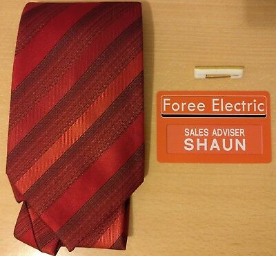 Shaun of the Dead Tie and Foree Electric ID card - Halloween costume accessory