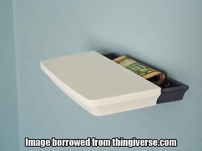 Small Shelf With Hidden Compartment for Money Keys Notes Secrets[3D Printed]