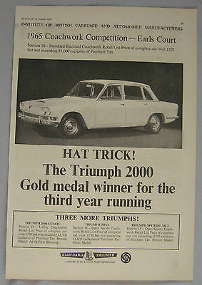 1965 Triumph 2000 Original advert No.2