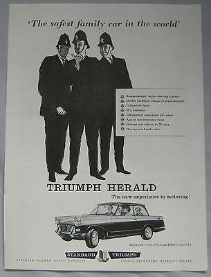 1960 Triumph Herald Original advert No.1