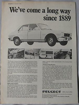 1969 Peugeot 504 Original advert