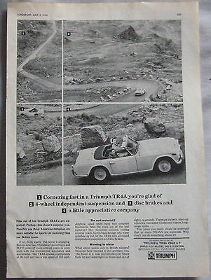 1966 Triumph TR4A Original advert No.1