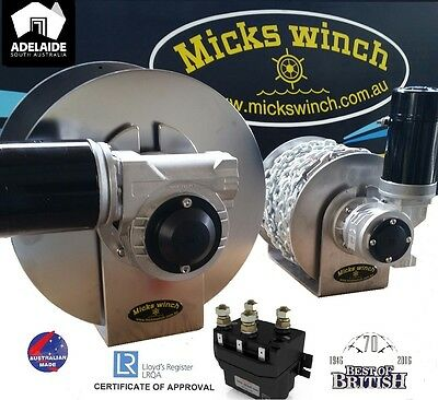 "Micks Winch Electric Drum Anchor Winch ""Surpasses All The Others In Quality"""