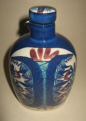 1963 Royal Copenhagen Denmark Aluminia Faience Cruet Bottle Pitcher Jar w/ Cap