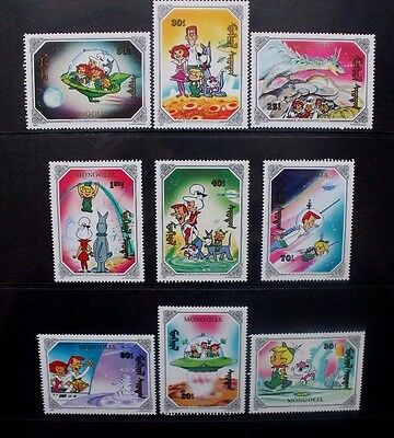 MONGOLIA 1991 The Jetsons Cartoons. Set of 9. Mint Never Hinged. SG2170/2178