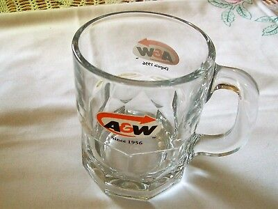 A&W glass mug - A&W - glass drinking mug - collectable mugs