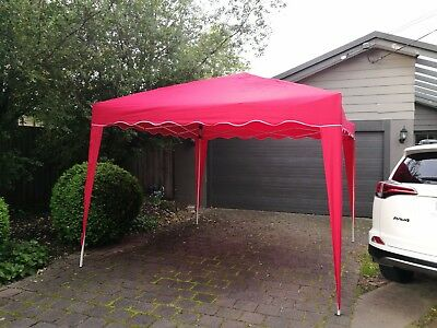 3x3M Outdoor Gazebo Pop Up Tent Folding Marquee Party Wedding Camping Canopy