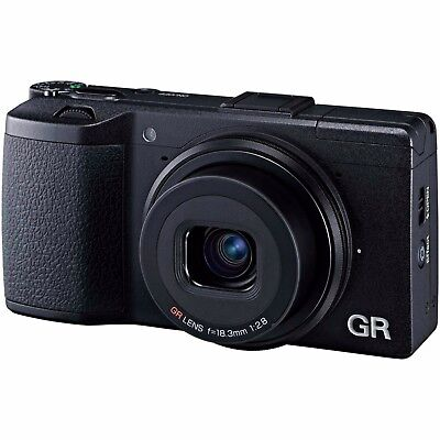 Ricoh GR II 16.2MP  Digital Compact Camera  in Black BNIB UK Stock APS-C Sensor