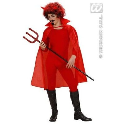 Red Cape 100cm Accessory For Fancy Dress - Devil Halloween Vampire Children