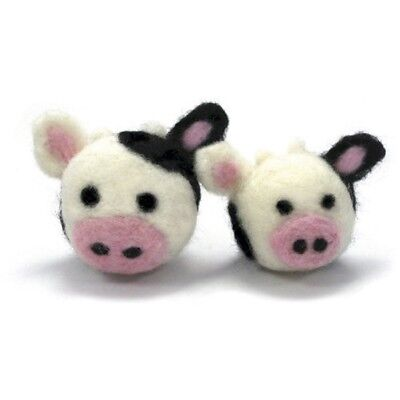 Dimensions Needle Felting - Round & Wooly: Cows - D7273903 Wooly Woolly Kit