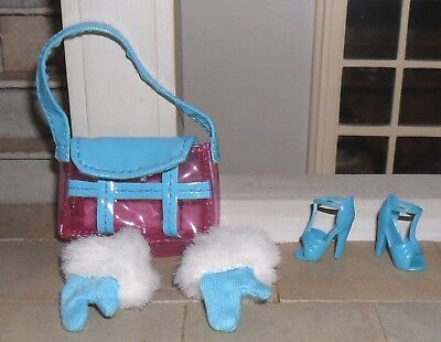 1/12Th Scale Dolls' Bag, Shoes And Gloves