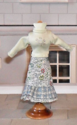 1/12Th Scale Dolls' Jumper And Cotton Skirt