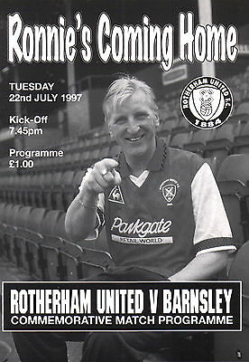 1997/98 Rotherham United v Barnsley, Ronnie Moore Commemorative match, PERFECT