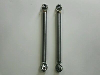 """13"""" to 14.5"""" x 3/8 Steering Tie Rod  Ends Kit Set for Go Kart Racing Cart Parts"""