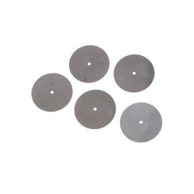 5Pcs 32mm Stainless Steel Saw Slice Metal Cutting Disc Rotary Tools S&U