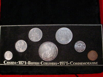 Canada - 1971 set with British Columbia Commem Silver - Very Scarce Set