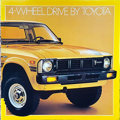 1979 Original Toyota Pickup Truck Catalog Sales Brochure 4 Wheel Drive 4WD