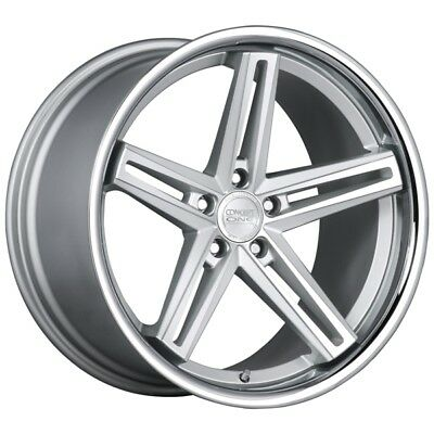 22X9 Concept One Wheels CS55 5x120 +35 Silver Machined Rims (Set of 4)