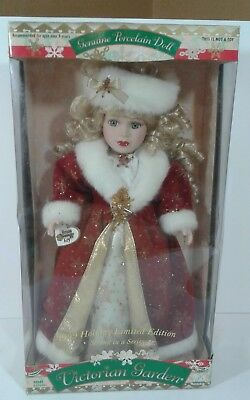 Victorian Garden Genuine Porcelain Doll-1999 Holiday Limited Edition Kmart Doll