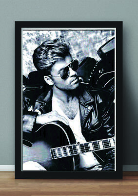 George Michael Print Poster (framed)