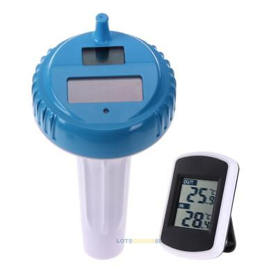 Digital Wireless Swimming Pool Spa Water Floating Solar Thermometer Lcd Display