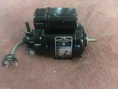 Used Bodine Electric Co. NYC-12R Speed Reducer Motor 1/125 HP 10RPM 180/1 Ratio