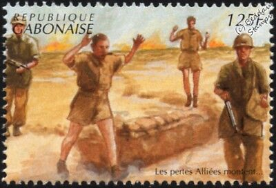 WWII 1941 North Africa: Allied Soldiers Surrender at Tobruk Stamp