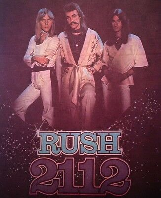 Vintage 70s Rush 2112 Iron-On Transfer  **Rare**