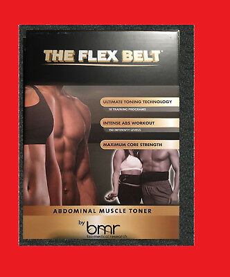 Brand New The Flex Ab Belt System Toning belt Muscle Body Exerciser System a