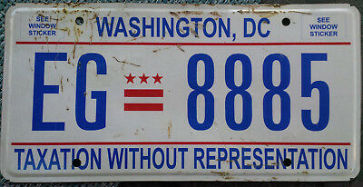 Washington, DC passenger car license plate - Taxation Without Representation