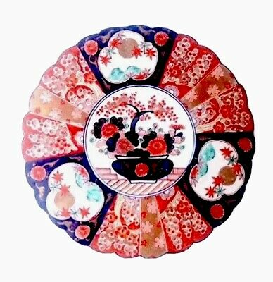 Antique Japanese Imari Porcelain Large Plate, 19C