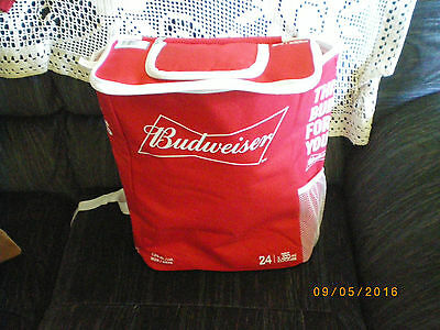 Budweiser Beer Cooler Bag 24 Can Size back pack hiking beech camping zippered