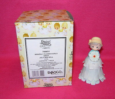 Precious Moments MONTHLY FLOWER GIRL JULY Daisy  Mini Bell