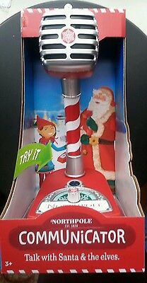 Hallmark NORTH POLE COMMUNICATOR Microphone - includes 2015 Cartridge NEW