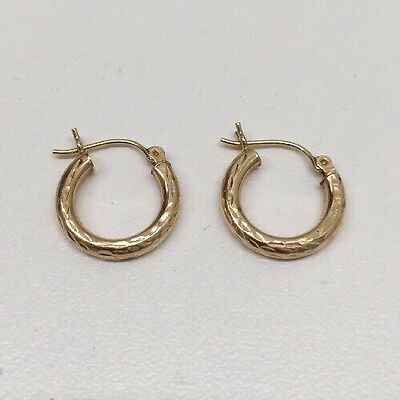 14 Karat Yellow Gold Earrings .9 Grams