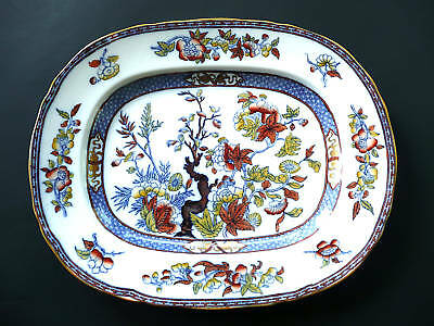 "Antique MINTON China- England ""Blue"" Indian Tree- Medium 13.5"" Platter- 1890's"