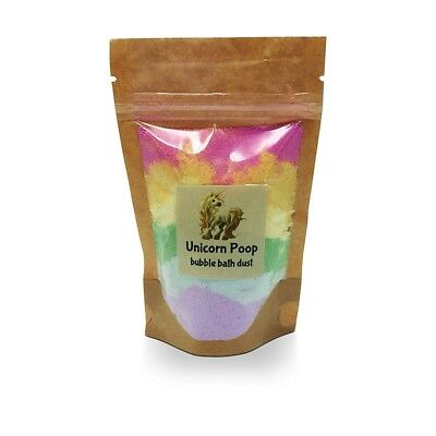 Unicorn Rainbow Poop Bubble Bath Dust Magic Fizzy Skin Moisturising Fun by Bomd