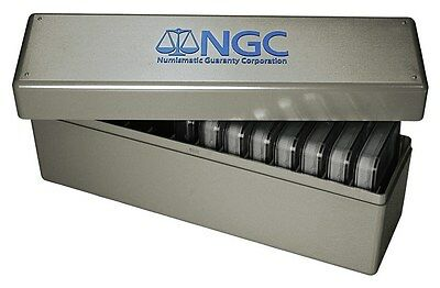 DOUBLE THICK BOX NGC Storage Plastic Box ~ Each Box Holds 14 COINS ~ Brand New!